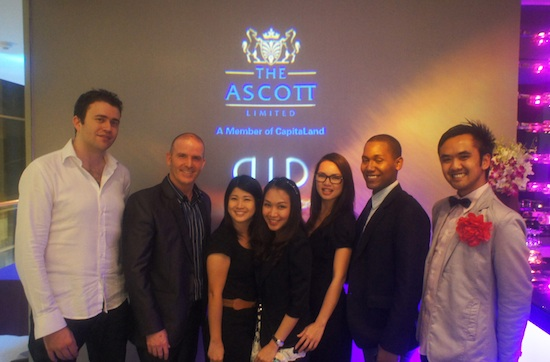 The team from Ascott and DID behind the event