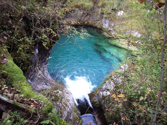 Blue eye spring in Albania