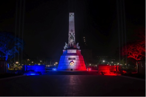 The Philippines lights up Rizal Monument